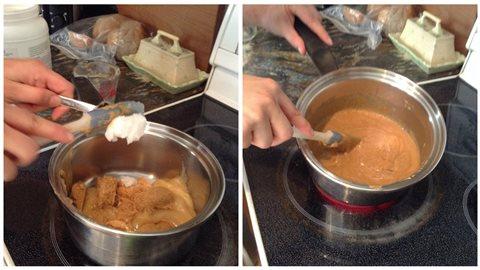 Ajouter huile de coco et cuire