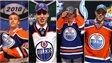 Taylor Hall, Ryan Nugent-Hopkins, Nail Yakupov et Connor McDavid, tous des joueurs sélectionnés par les Oilers avec le premier choix.