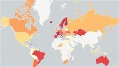 Dans quel pays y a-t-il la plus forte présence syndicale? La réponse en carte