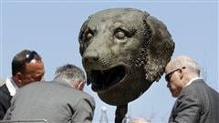 Des sculptures de têtes d'animaux géantes en plein coeur de Boston