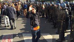 Manifestation sous tension en cours à Paris