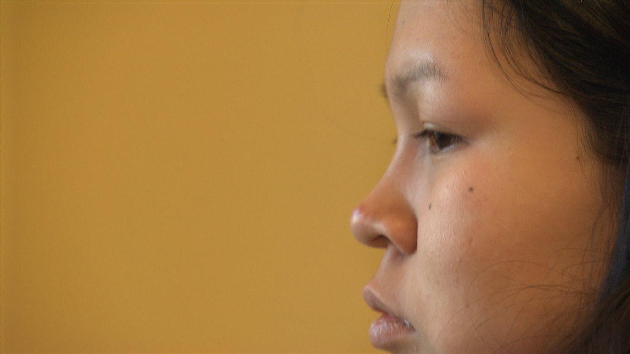 Amélia-Kariane Papatie, une jeune autochtone de la communauté de Kitcisakik.