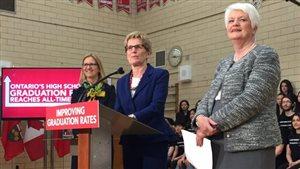 Kathleen Wynne et Liz Sandals annoncent le taux d'obtention de diplôme en 2015