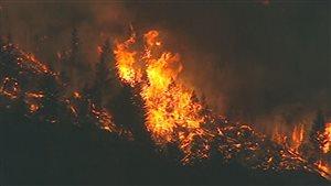 Incendie en Colombie-Britannique en juillet 2009