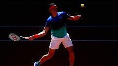 Milos Raonic en quarts de finale à Madrid