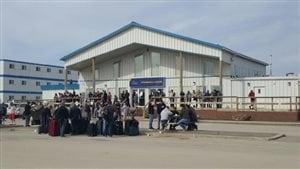 Le camp Athabasca est situé à 50 kilomètres au nord de Fort McMurray