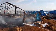 Horreur et stupéfaction au lendemain d'une frappe contre un camp de déplacés en Syrie