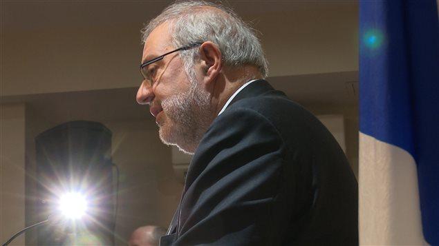 Le ministre de l'Énergie et des Ressources naturelles du Québec, Pierre Arcand