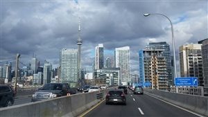 L'autoroute Gardiner à Toronto