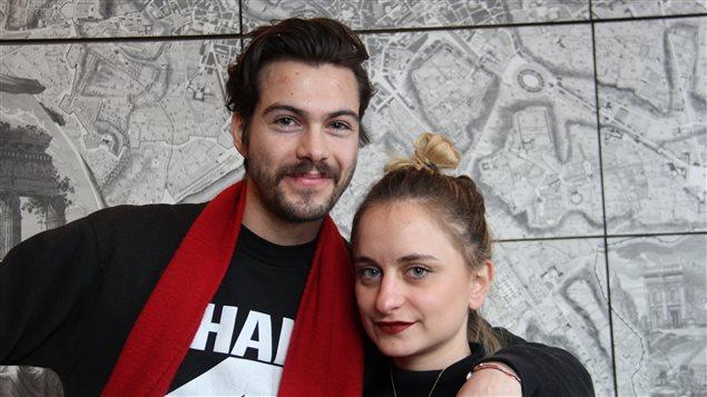 Les jeunes vingtenaires François-Luc Giraldeau et Alice Weil