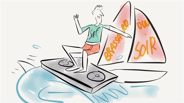 Pierre Brassard surfe sur sa dernière émission.