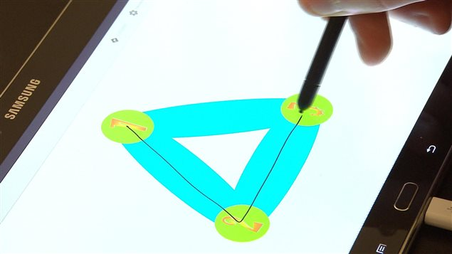 Exercice sur une tablette