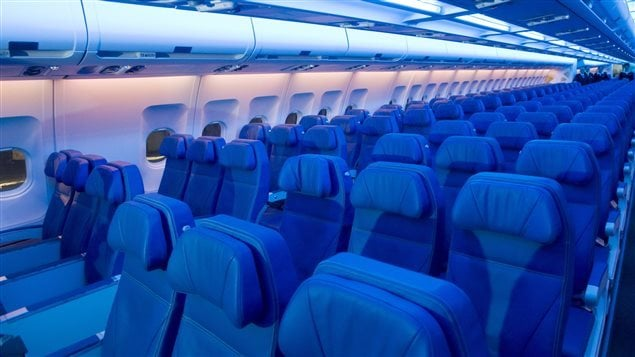Des araign es s ment la panique dans un avion d 39 air for Interieur avion ryanair