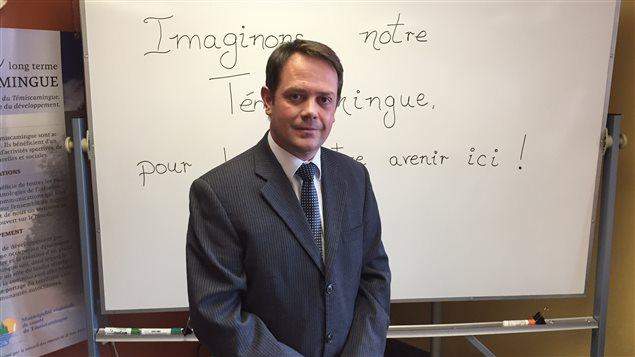 Le préfet du Témiscamingue, A. Warolin au lancement de la démarche sur la révision des structures municipales