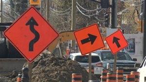 Route en construction