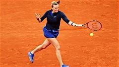Entrée difficile de Kvitova à Paris