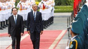 Le président américain, Barack Obama, et son homologue vietnamien, Tran Dai Quang.