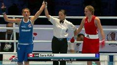 Sara Kali en demi-finales aux mondiaux de boxe