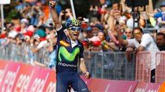Valverde gagne la 16e étape du Giro devant le maillot rose