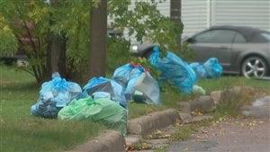 Sacs de poubelle, Moncton.