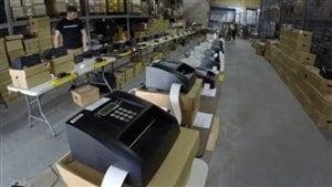 Les tabulateurs, ou machines de vote électronique déployés pour les élections municipales au N.-B.