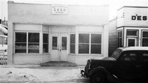 Le premier bureau de CKSB sur le boulevard Provencher.