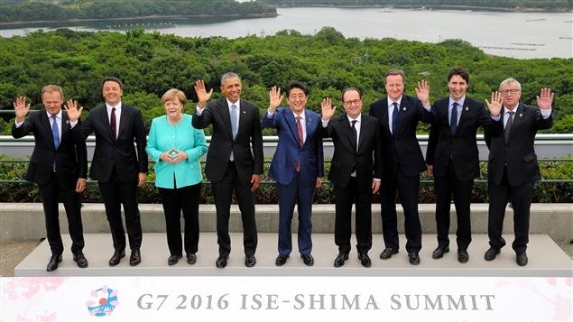 Les dirigeants du G7 réunis au Japon