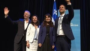 De gauche à droite : Jean-François Lisée, Martine Ouellet, Véronique Hivon et Alexandre Cloutier, les aspirants-chefs du Parti québécois.