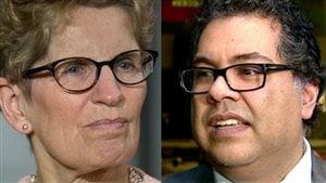 La première minsitre de l'Ontario, Kathleen Wynne, a rencontré le maire de Calgary vendredi.