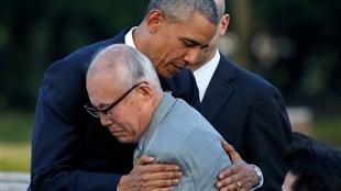 Le président américain, Barack Obama, rend hommage aux victimes d'Hiroshima