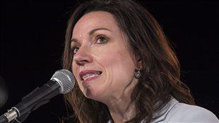 Martine Ouellet, lors du lancement de sa campagne à la direction du Parti québécois, vendredi, à Montréal.