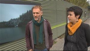 Le photographe Steve Leroux et la poète Sara Dignard