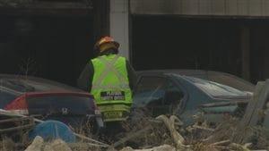 Un incendie s'est déclaré dans un parc à ferraille à Saint-Boniface.