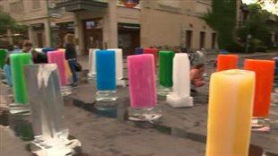 Des sculptures qui fondent sous la chaleur