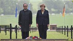 Hollande et Merkel célèbrent ensemble le centenaire de Verdun