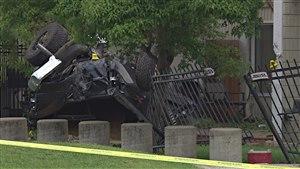 Un accident a eu lieu sur Corydon, à Winnipeg.