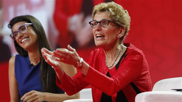 Kathleen Wynne au congrès libéral à Winnipeg.