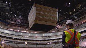 Le tableau indicateur de la Place Rogers, à Edmonton, sera le plus gros de la ligue nationale de hockey.