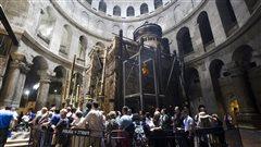 Le Saint-Sépulcre restauré juste à temps pour Pâques
