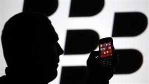 La photo est un pictogramme illustrant la compagnie BlackBerry.