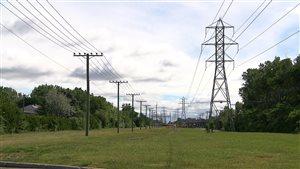 Des pylones d'Hydro-Québec