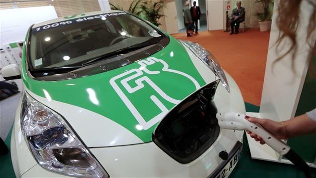 Une voiture électrique de Nissan