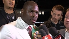 Adonis Stevenson en vue de son match contre Thomas Williams fils