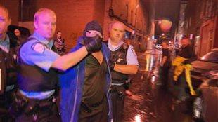Arrestation de Richard Henry Bain le soir de l'attentat