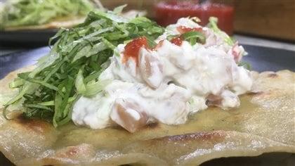 Taco d'albacore (thon blanc)