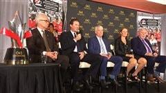 Mario Lemieux reçoitl'Ordre du hockey auCanada à Halifax
