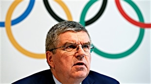 Le président du CIO, Thomas Bach