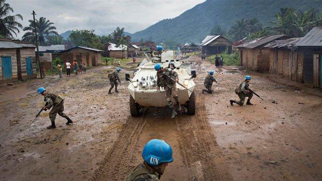 Des casques bleus déployés en République démocratique du Congo