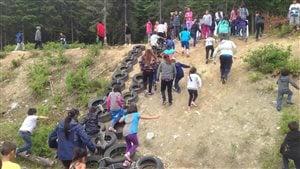 Nouvelle piste d'hébertisme de l'école Amikobi de Lac-Simon