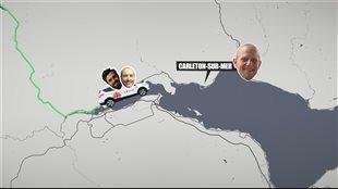 Bruno Lelièvre et William Bastille Denis ont suivi la route des accents en Gaspésie.